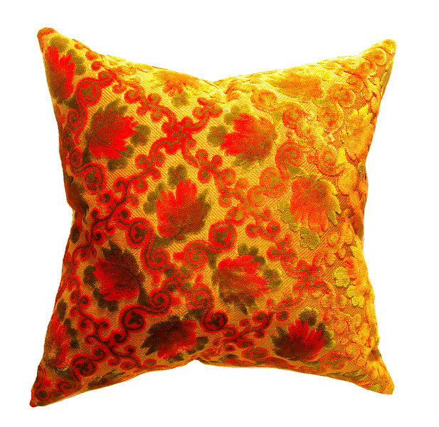 Halloween, Austin, Texas, South Congress Avenue, vintage, fabric, 1960's, 1950's, Pillow Power, Pillow Goddess, cushions, Lucy in Disguise,  pillow, home decor, home furnishings, orange, luxury designer pillows, luxury decorative pillows, Les Bijoux de Luxe, costume jewelry, feathers, silk brocade, fabric, textiles, costumes, color, decoration, pillows, home decor, Day of the Dead