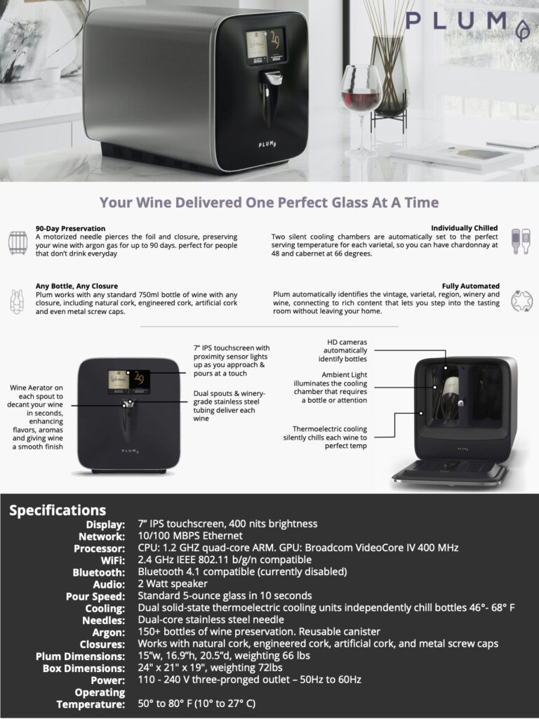 PLUM fact sheet and specifications