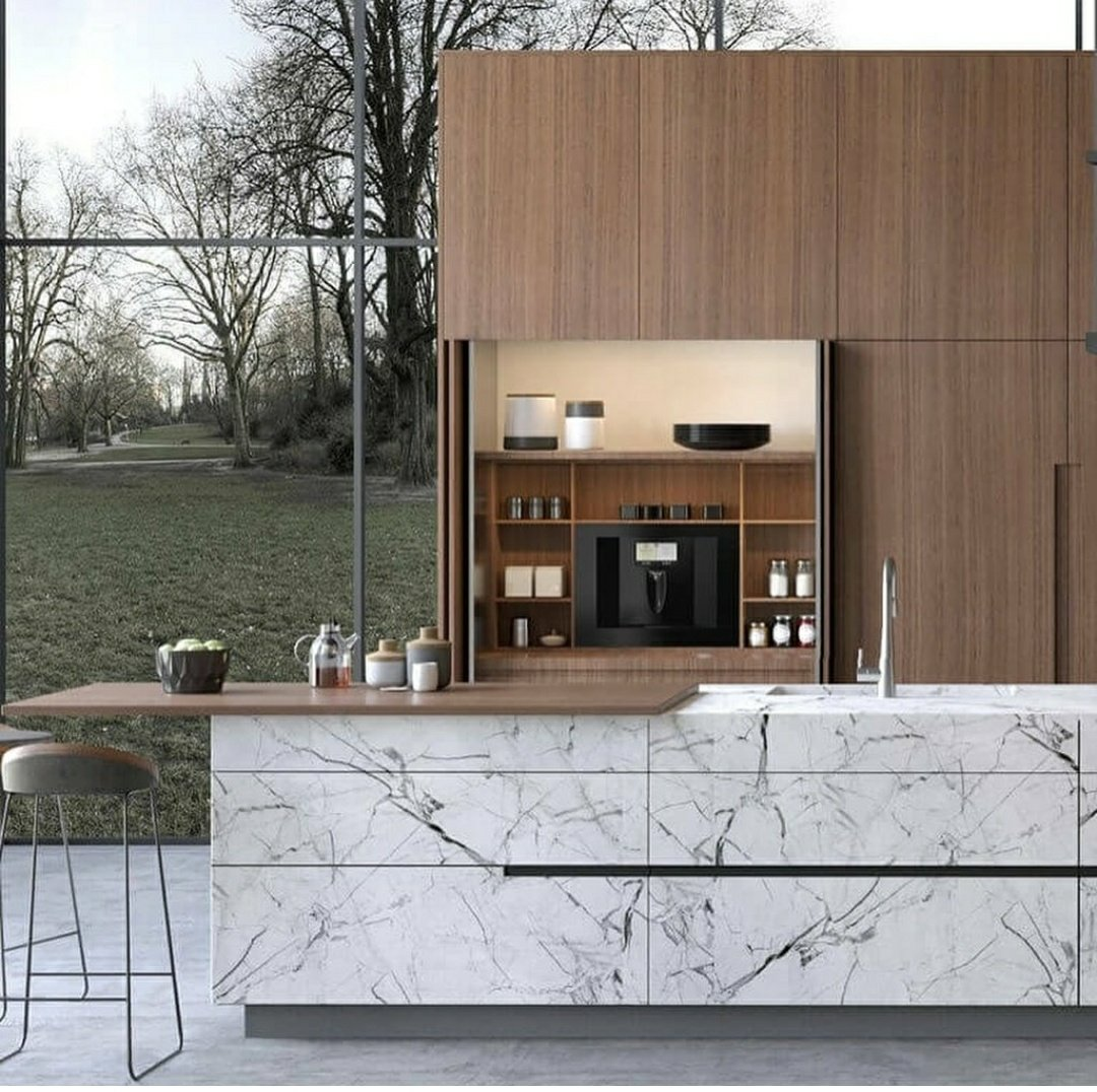 Integrate PLUM into your cabinetry in the kitchen