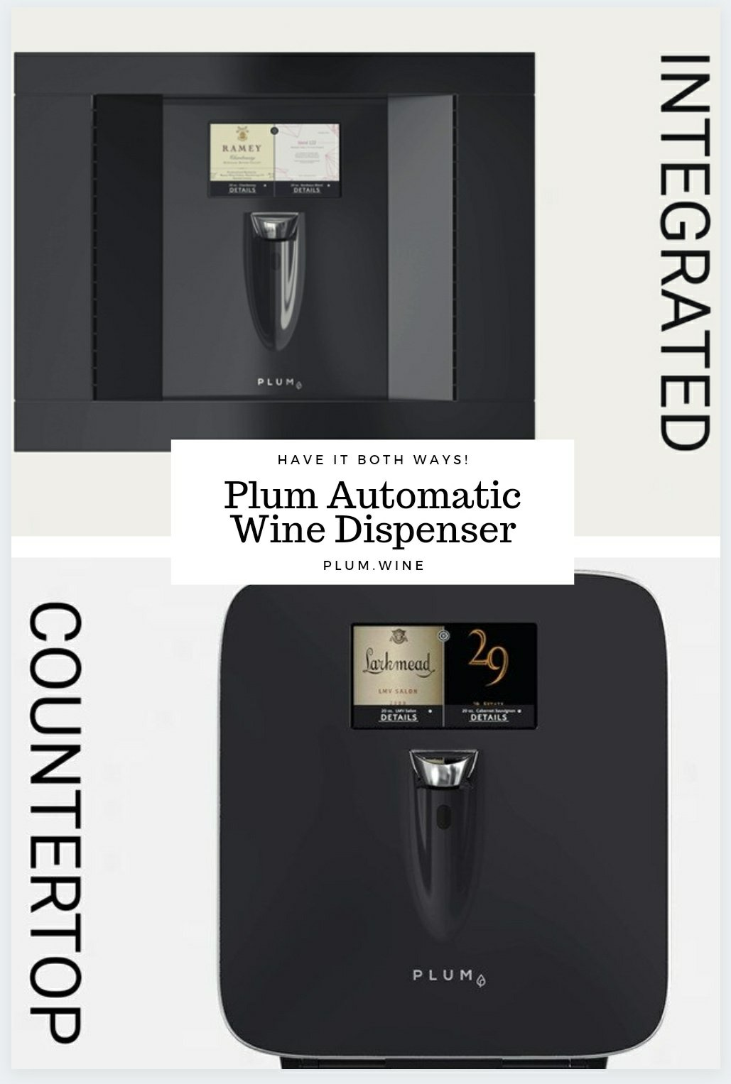 Countertop and Integrated PLUM elevates your wine experience - on The Pillow Goddess blog
